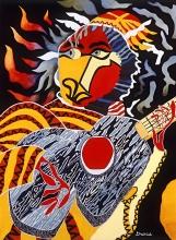 "The Devil's Guitar 32""w x 39""h"