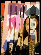 """Mona Strips 28""""w x 36""""h"""