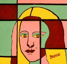"Mona Warhol 38""w x 38""h"