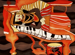 """Queen of Pianos 38""""w x 30""""h"""
