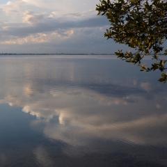 Summer clouds at sunset. Fort DeSoto Park, Florida. 2014.