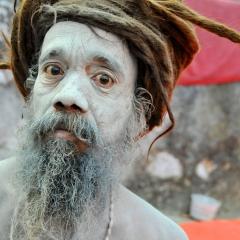 Holy sadhu. Pushkar, Rajasthan, India. 2014.
