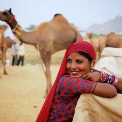 Pushkar Fair dancer. Rajasthan, India. 2014.