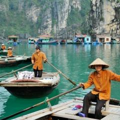 Floating fishing village. Vung Vieng, Ha Long Bay, Vietnam. 2013.